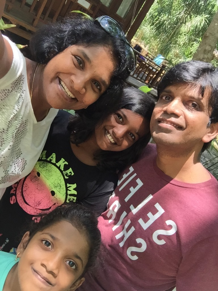 Ananya with her Family
