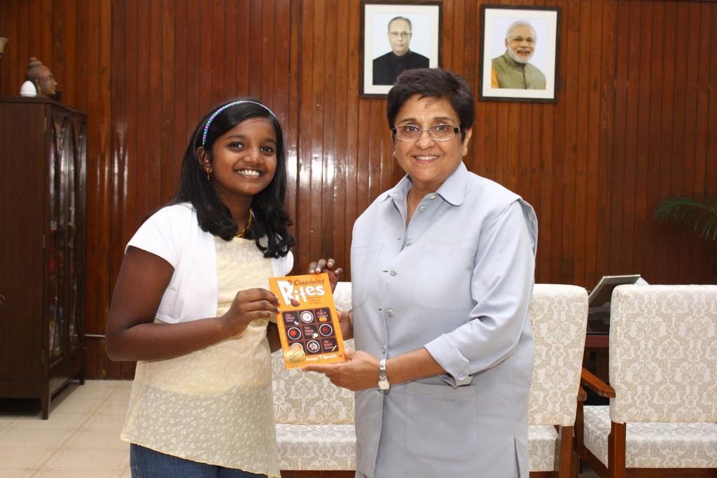 Ananya with KiranBedi