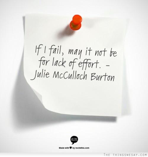If I fail