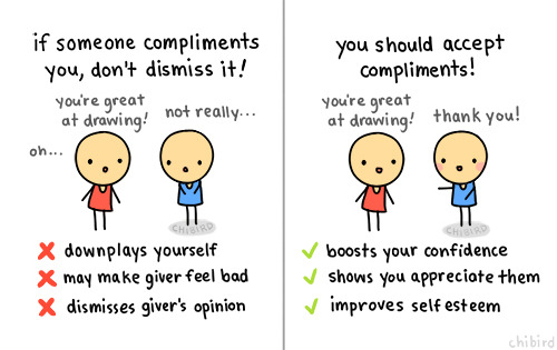 How to take a compliment?