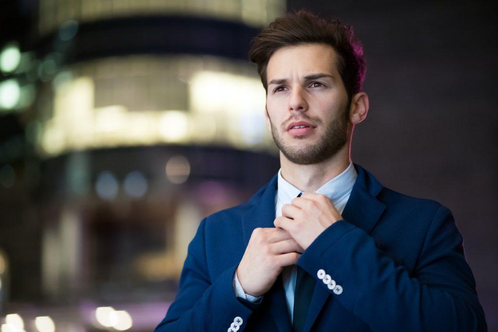 Business suit exudes authority